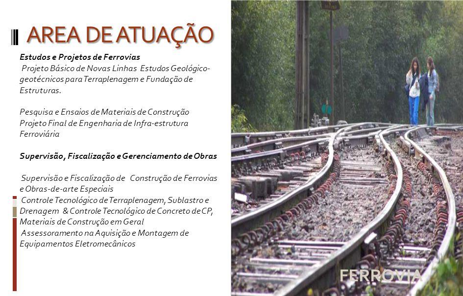 AREA DE ATUAÇÃO Saneamento - Água Projetos Básicos e Executivos Estudos Topográficos Estudos Geotécnicos Projetos Hidráulicos Projetos Arquitetônicos Projetos Estruturais (C.