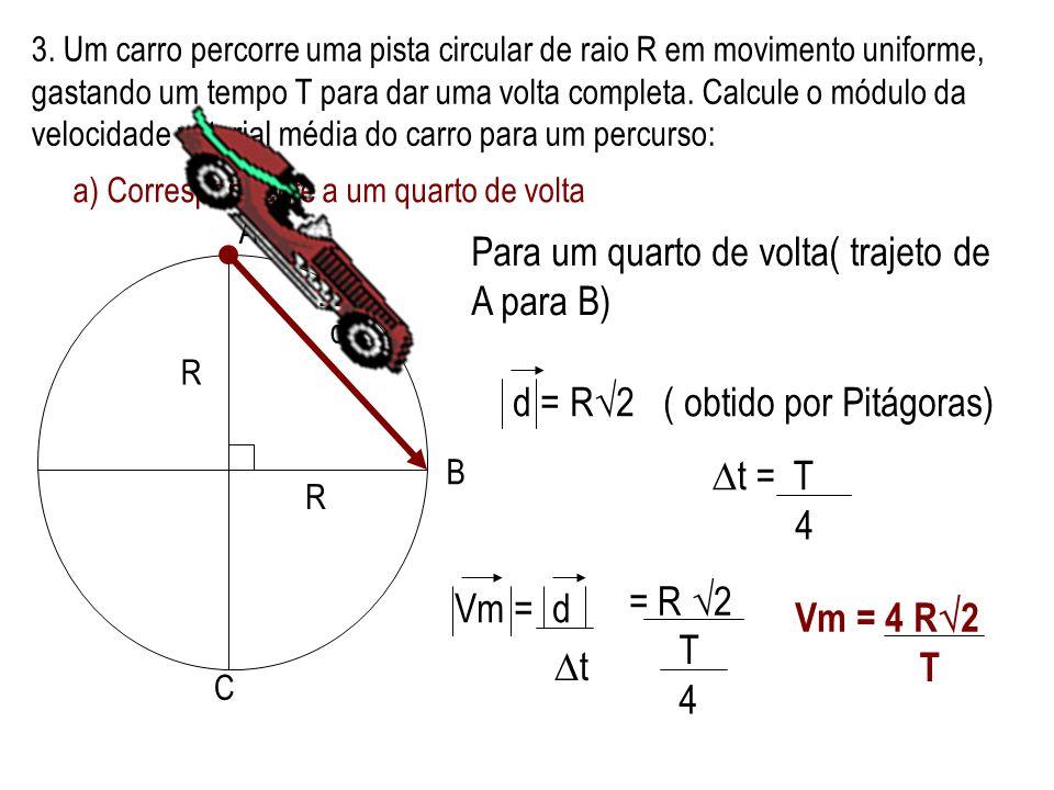 2.(MACKENZIE-SP)- A figura em escala mostra os vetores deslocamento de uma formiga, que, saindo do ponto A, chegou ao ponto B, após 3 minutos e 20s.