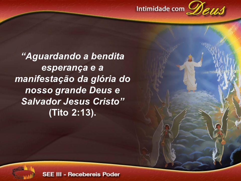 """""""Aguardando a bendita esperança e a manifestação da glória do nosso grande Deus e Salvador Jesus Cristo"""" (Tito 2:13)."""