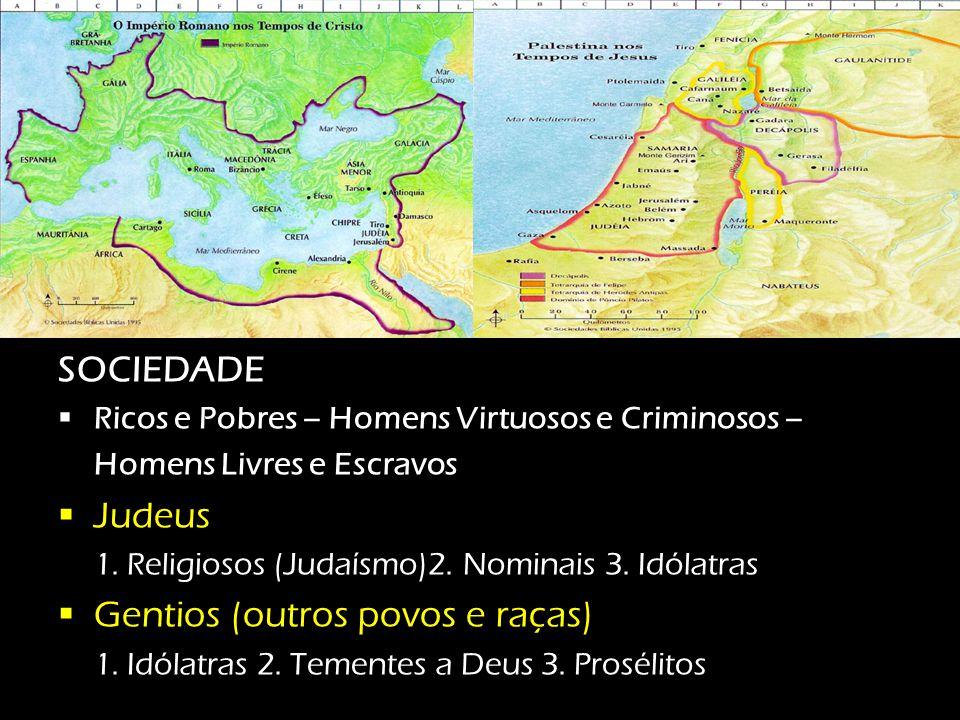 O mundo EM que Jesus e esses 5 homens viviam POLÍTICA  Império Romano – Tibério César (14 a.C a 37 d.C.)  Galiléia e Peréia – Herodes Antipas (4 a.C