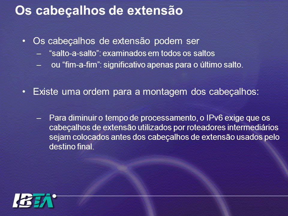 """Os cabeçalhos de extensão Os cabeçalhos de extensão podem ser –""""salto-a-salto"""": examinados em todos os saltos – ou """"fim-a-fim"""": significativo apenas p"""