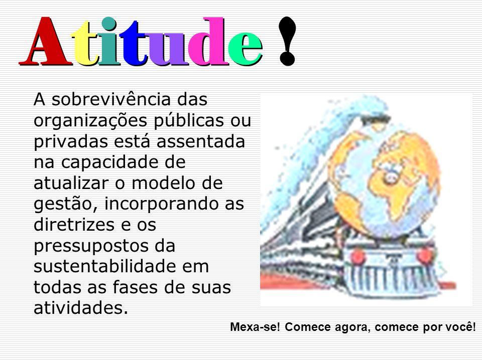 Atitude ! A sobrevivência das organizações públicas ou privadas está assentada na capacidade de atualizar o modelo de gestão, incorporando as diretriz