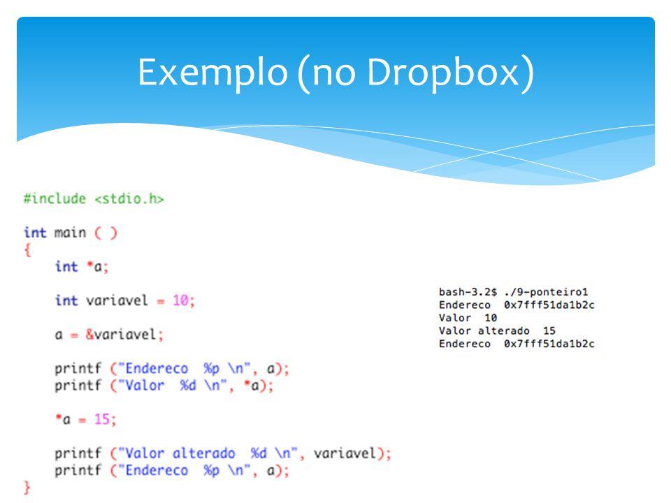 Exemplo (no Dropbox)