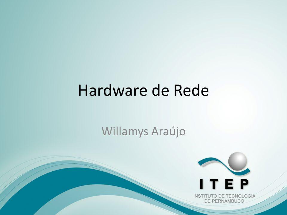 Hardware de Rede Placa de Rede; Concentrador (hub); Comutador (switch); Roteador (router); Modem; Porta de Ligação (gateway); Ponte (bridge); IPv4 IPv6