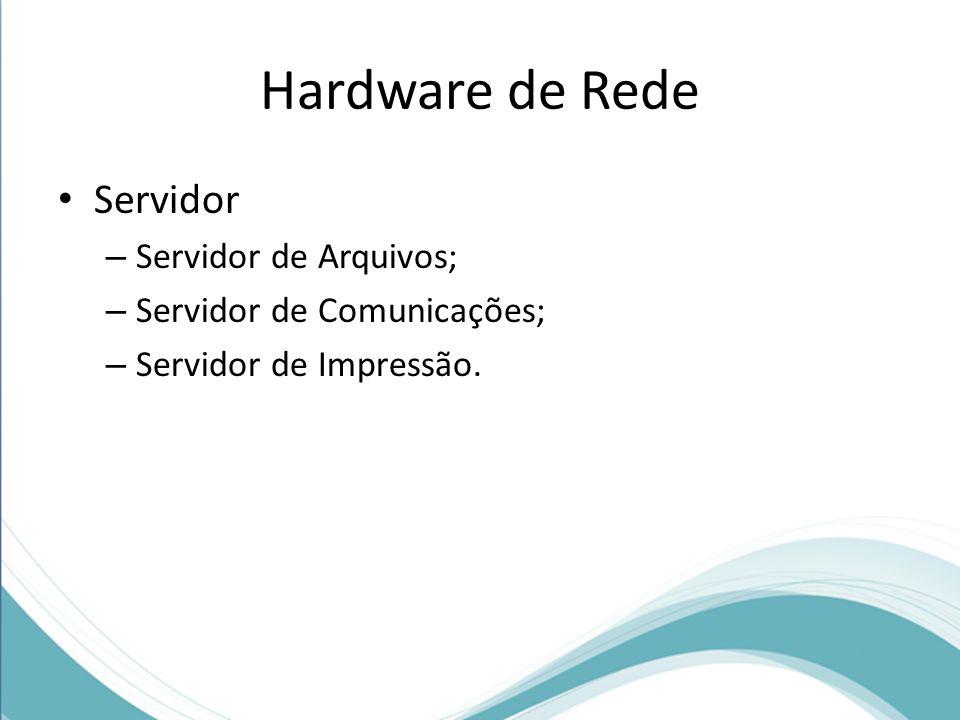 Concentrador (Hub) Hub: É o processo pelo qual se transmite ou difunde determinada informação.