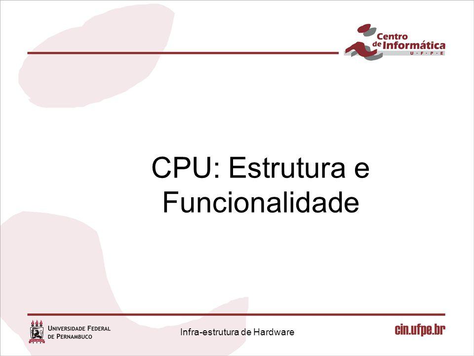 Infra-estrutura de Hardware Componentes Básicos: Acesso à memória 1632 Sign extend Extensão de Sinal FFFD FFFFFFFD 0002 00000002