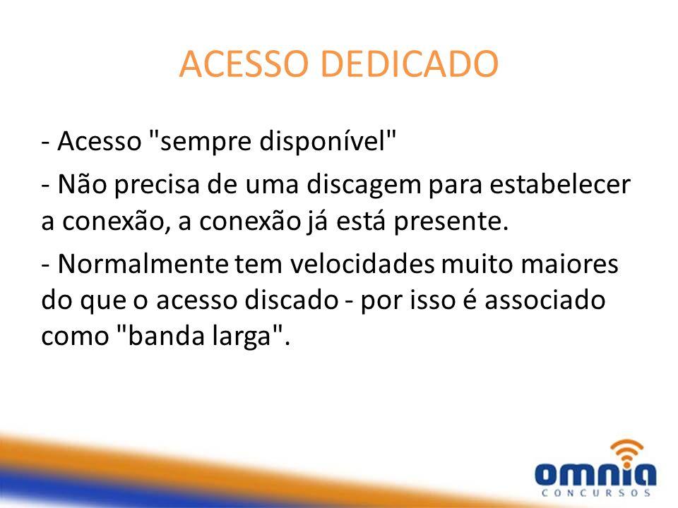 ACESSO DEDICADO - Acesso