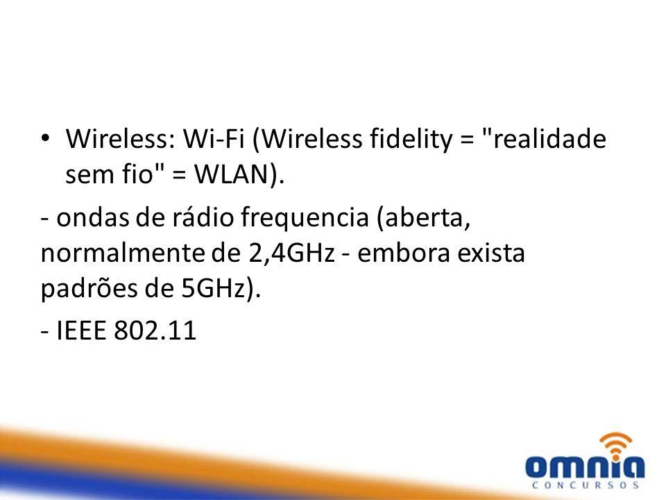 Wireless: Wi-Fi (Wireless fidelity =