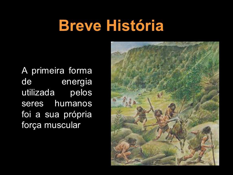 Breve História A primeira forma de energia utilizada pelos seres humanos foi a sua própria força muscular