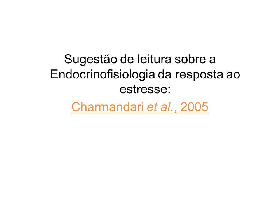 Sugestão de leitura sobre a Endocrinofisiologia da resposta ao estresse: Charmandari et al., 2005