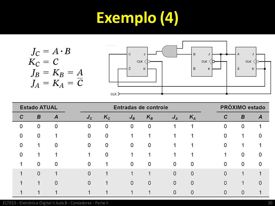 Exemplo (4) ELT013 - Eletrônica Digital II Aula 8 - Contadores - Parte II30
