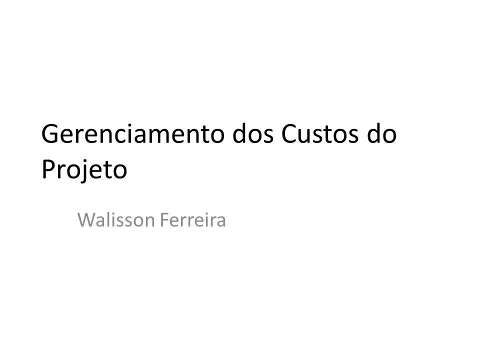 Gerenciamento dos Custos do Projeto Walisson Ferreira