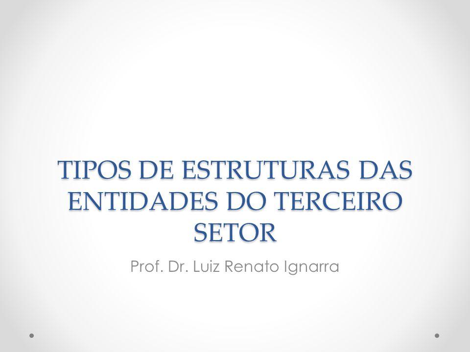 TIPOS DE ESTRUTURAS DAS ENTIDADES DO TERCEIRO SETOR Prof. Dr. Luiz Renato Ignarra