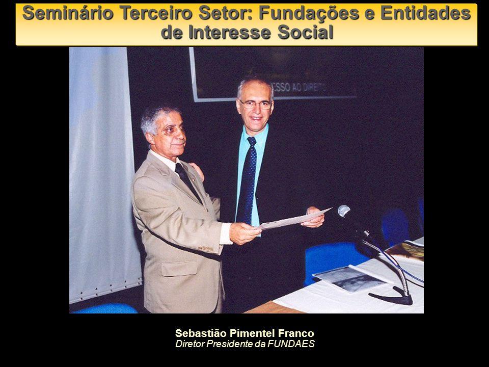 Seminário Terceiro Setor: Fundações e Entidades de Interesse Social Vitor Marcio Nunes Feitosa Presidente da URGE