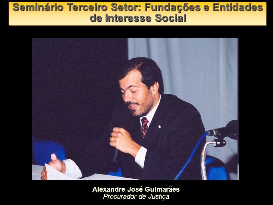 Alexandre José Guimarães Procurador de Justiça Seminário Terceiro Setor: Fundações e Entidades de Interesse Social