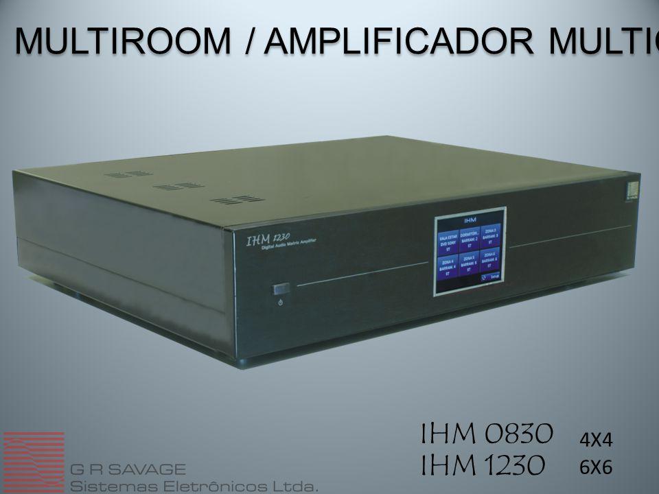 MULTIROOM / AMPLIFICADOR MULTICANAL IHM 0830 IHM 1230 4X4 6X6