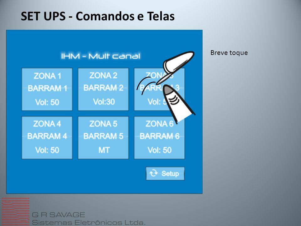 SET UPS - Comandos e Telas Breve toque
