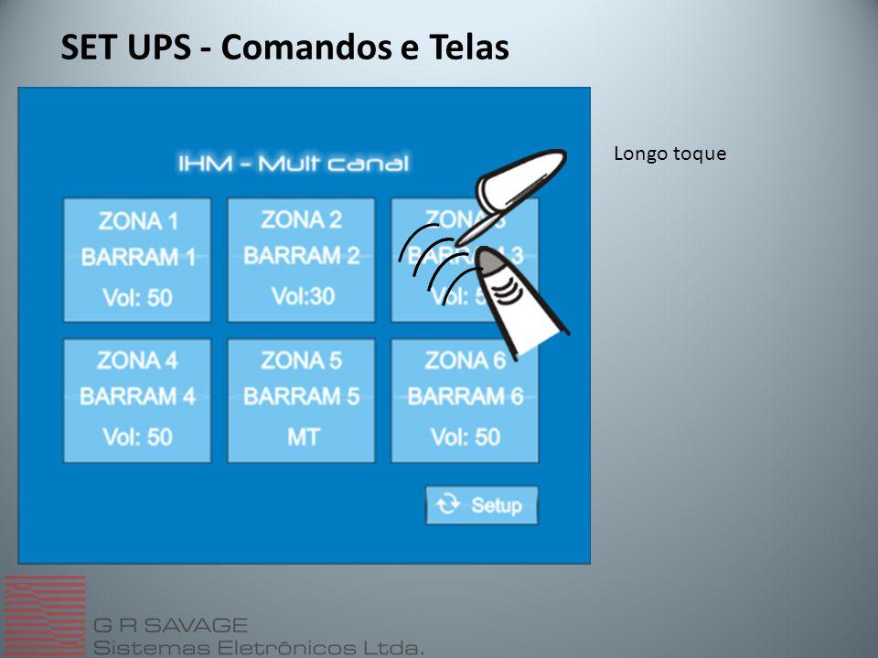 SET UPS - Comandos e Telas Longo toque