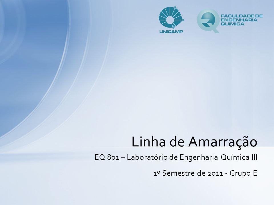 EQ 801 – Laboratório de Engenharia Química III 1º Semestre de 2011 - Grupo E Linha de Amarração