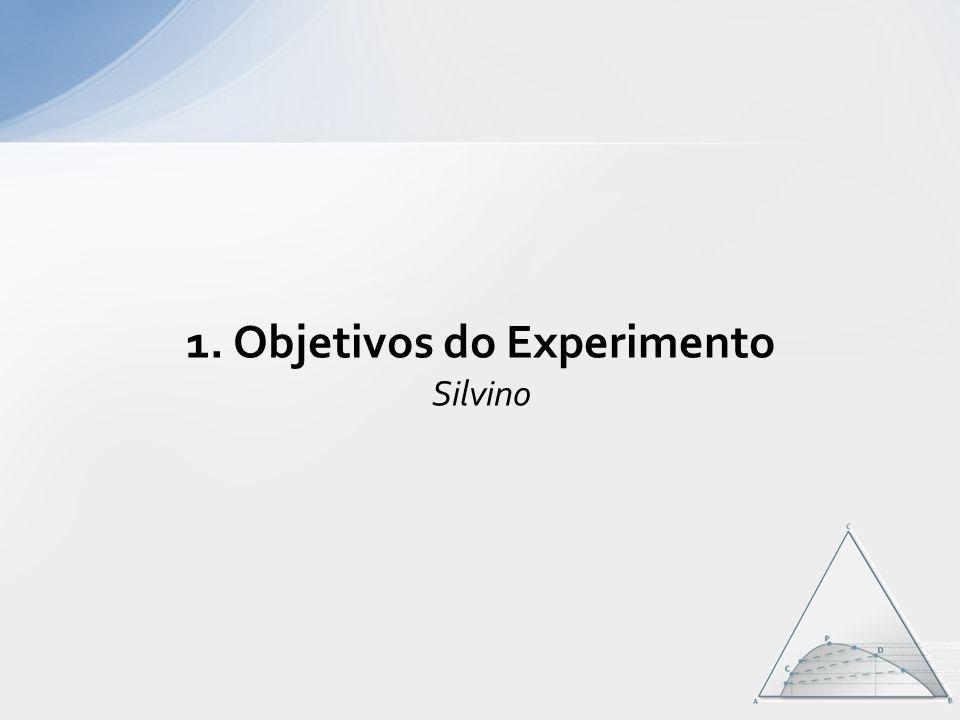 1. Objetivos do Experimento Silvino