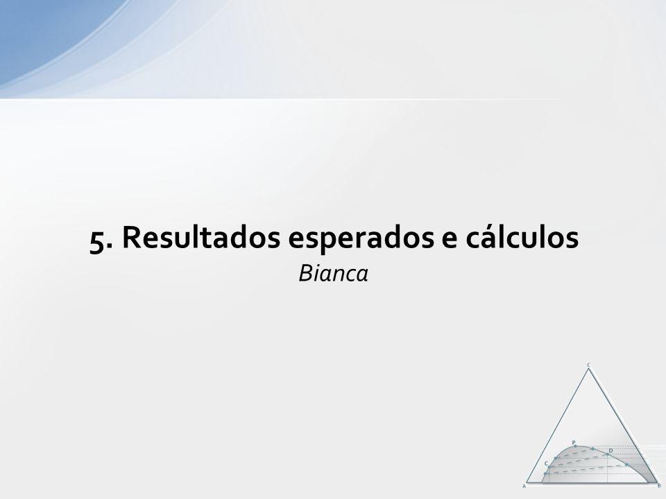 5. Resultados esperados e cálculos Bianca