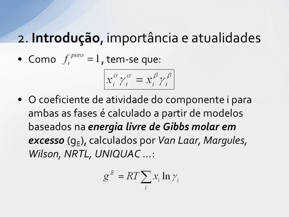 Quando se tem três componentes separando-se em duas ou mais fases líquidas, pode-se fazer uma representação gráfica através dos Diagramas Ternários .
