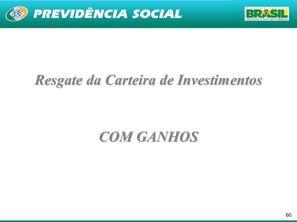 60 COM GANHOS Resgate da Carteira de Investimentos