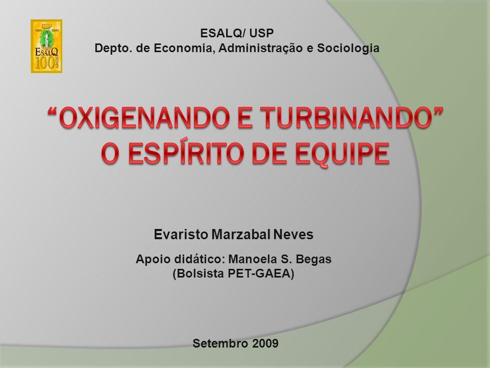 Evaristo Marzabal Neves Apoio didático: Manoela S. Begas (Bolsista PET-GAEA) ESALQ/ USP Depto. de Economia, Administração e Sociologia Setembro 2009