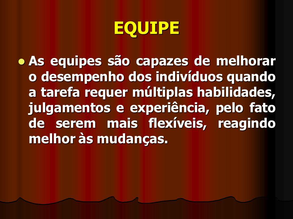 EQUIPE DE SAÚDE Pressupostos básicos: Pressupostos básicos: 1.