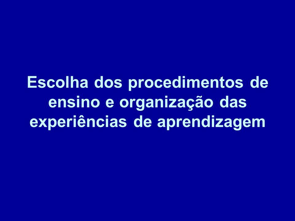 b – Procedimentos de ensino- aprendizagem socializantes 1.