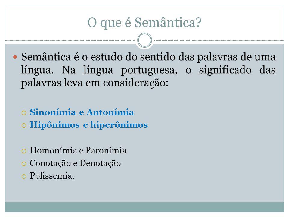 Sinonímia É a relação que se estabelece entre duas palavras ou mais que apresentam significados iguais ou semelhantes, ou seja, os sinônimos:  Exemplos:  Cômico - engraçado.