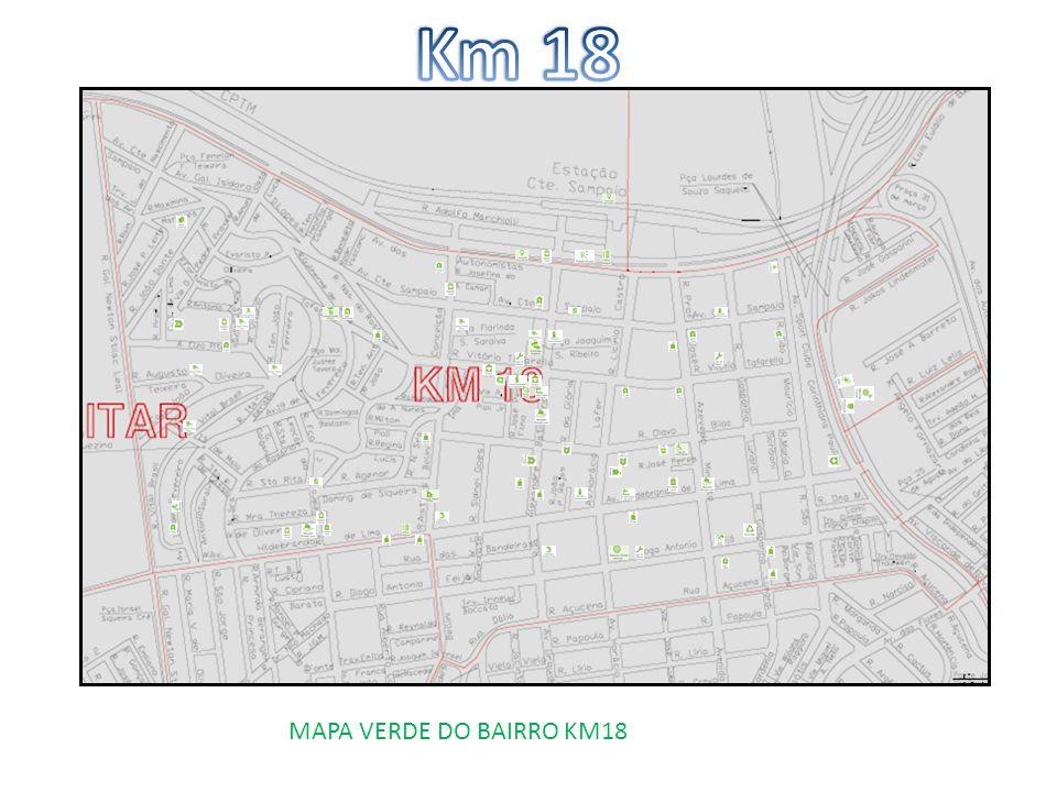 MAPA VERDE DO BAIRRO KM18