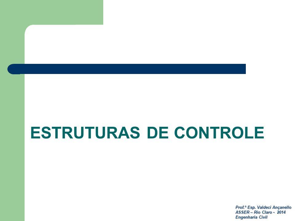 Prof.º Esp. Valdeci Ançanello ASSER – Rio Claro - 2014 Engenharia Civil ESTRUTURAS DE CONTROLE