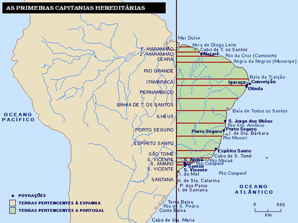 ADMINISTRAÇÃO COLONIAL: GOVERNO GERAL Devido ao fracasso com as capitanias hereditárias, Portugal resolveu centralizar as administrações de colônias por intermédio de governador geral.