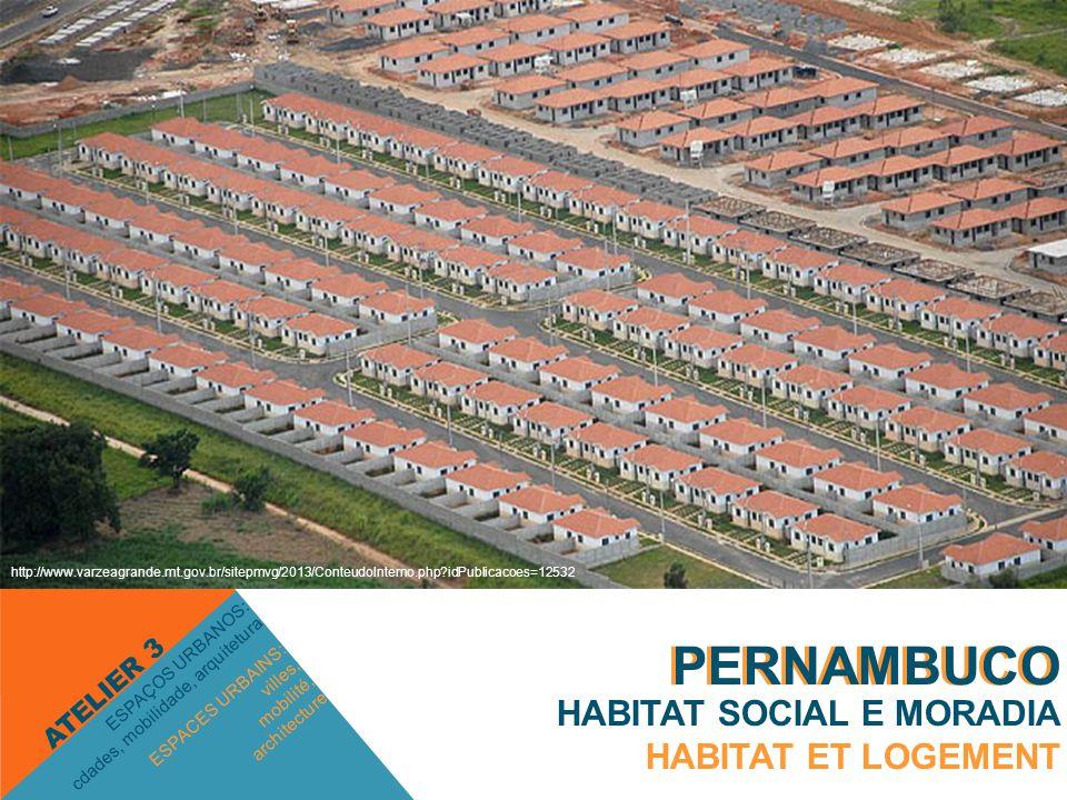 ESPACES URBAINS: villes, mobilité, architecture ESPAÇOS URBANOS: cdades, mobilidade, arquitetura ATELIER 3 HABITAT SOCIAL E MORADIA HABITAT ET LOGEMEN