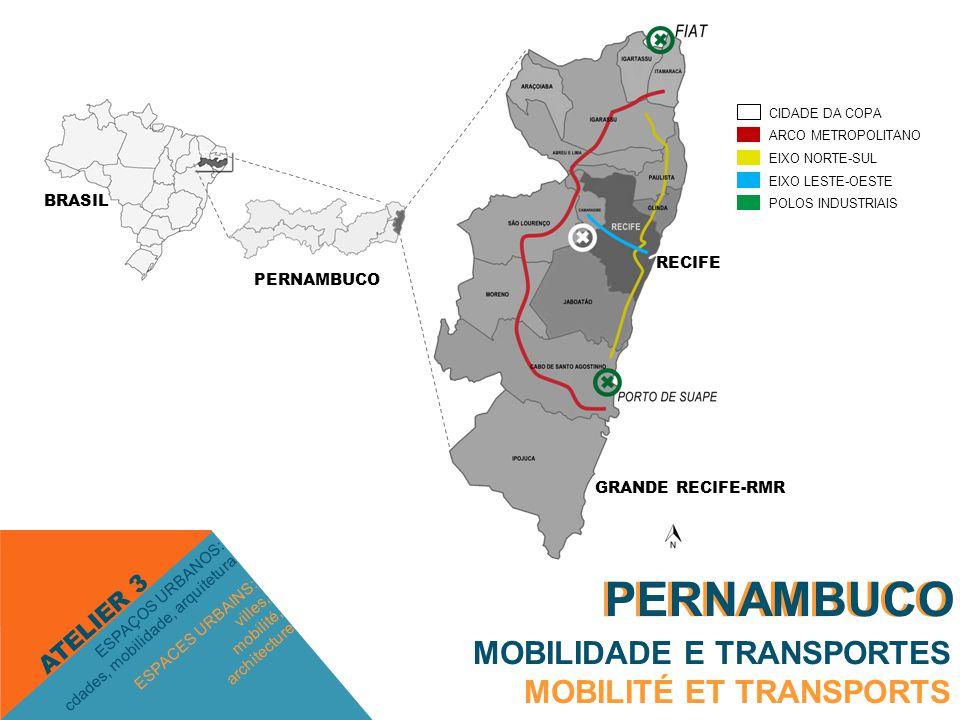 PERNAMBUCO MOBILIDADE E TRANSPORTES MOBILITÉ ET TRANSPORTS ESPACES URBAINS: villes, mobilité, architecture ESPAÇOS URBANOS: cdades, mobilidade, arquitetura ATELIER 3 PERNAMBUCO Cidade da Copa Fonte:http://www.liberdade.com.br/noticias.php?id=17741