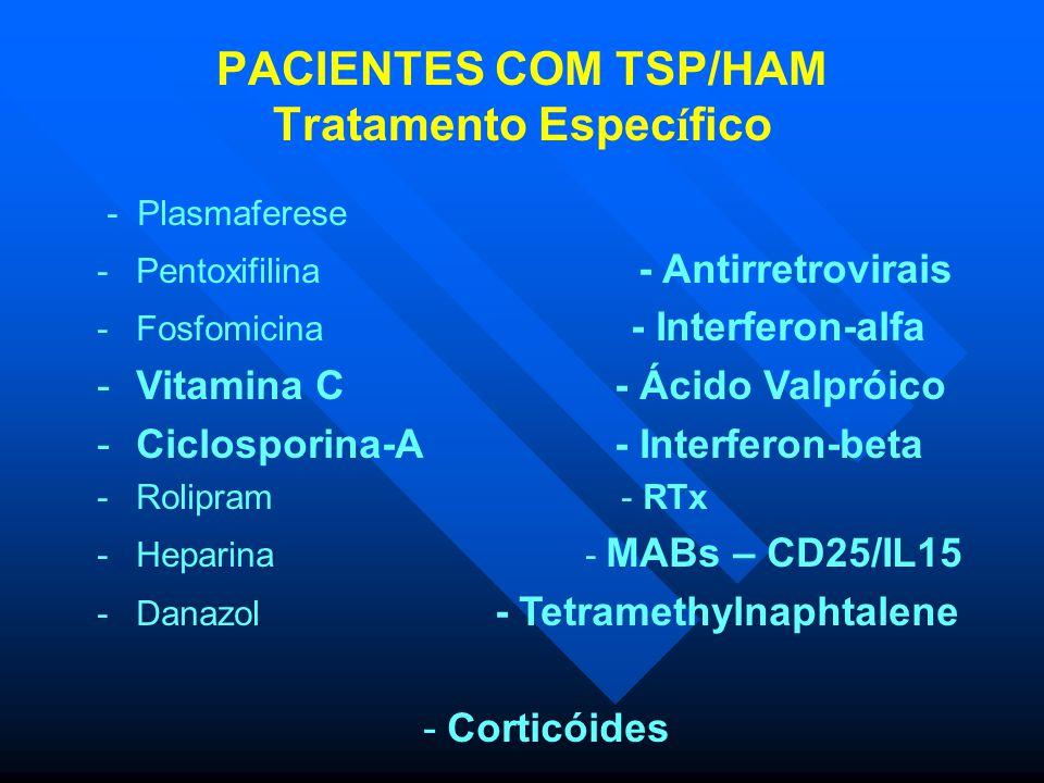 FMUSP – LIM56/IMTSP Análise da carga proviral longitudinal dos pacientes com TSP/HAM