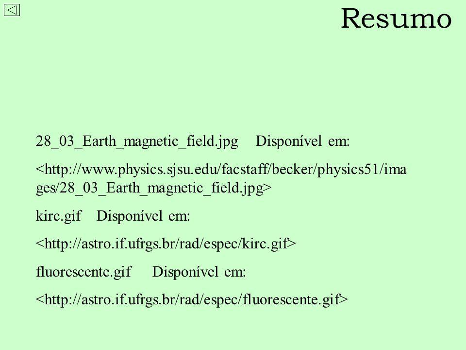 Na presença de um campo magnético, as linhas de absorção e de emissão são divididas em duas ou mais linhas próximas – Efeito Zeeman Quanto maior o campo, maior a separação