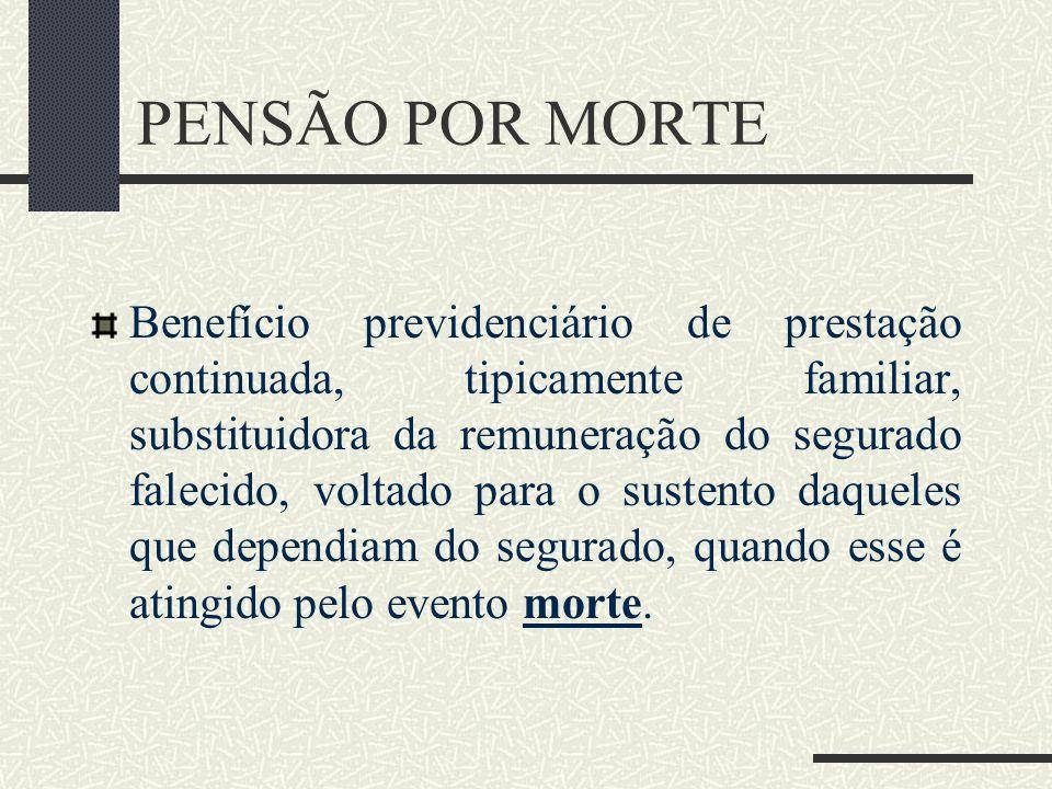 PENSÃO POR MORTE Profª. Luciana Moraes de Farias lucianamfarias@hotmail.com 10.04.2010