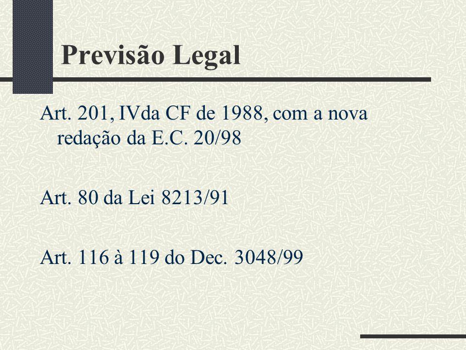 AUXÍLIO-RECLUSÃO ANTECEDENTE HISTÓRICO DO AUXÍLIO-RECLUSÃO O dispositivo acima teve sua alteração com a Emenda Constitucional n.º 20, de 15 de dezembr