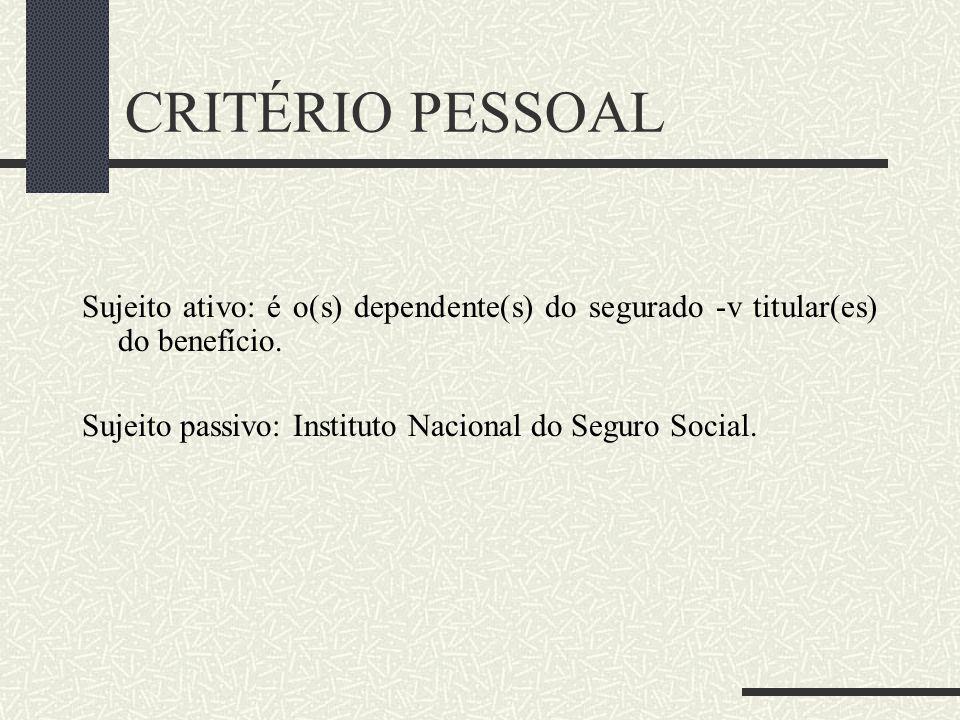 RISCO DO AUX.-RECLUSÃO A Previdência Social tem o objetivo de proteger não só o segurado, mas também seus dependentes. A prestação auxílio-reclusão nã