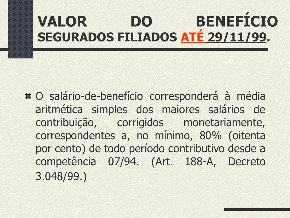 CRITÉRIO QUANTITATIVO Base de cálculo x alíquota: Base de Cálculo: Salário-de-beneficio. Alíquota: 70% do salário-de-benefício +1% para cada grupo de