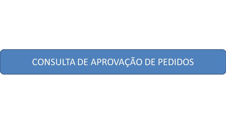 CONSULTA DE APROVAÇÃO DE PEDIDOS