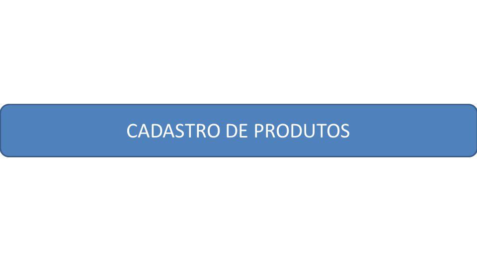 CADASTRO DE PRODUTOS
