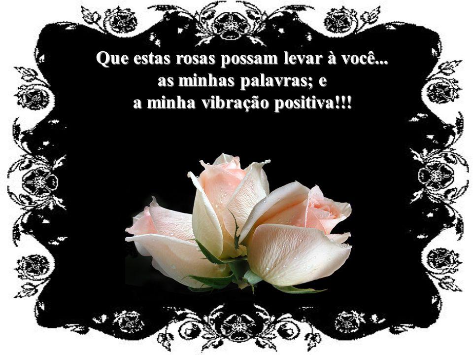 Uma rosa...para você pensar na vida com mais carinho; e, não se esquecer que por você...