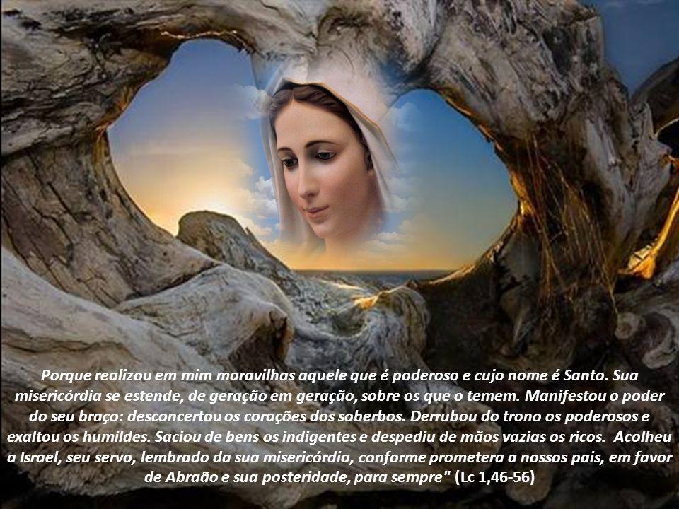 Maria é modelo do anúncio profético da Igreja e para a Igreja. O