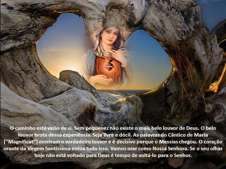 A Santíssima Virgem Maria é a exaltação mais pura do conhecimento de Deus e de si. É a alegria, o júbilo da criatura amada pelo Criador. O