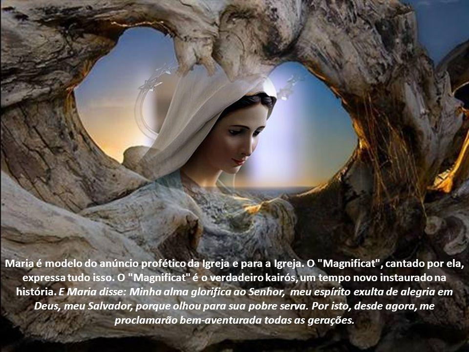 Essa é a obra do louvor. Como viver tudo isso? Precisamos de um modelo e a Virgem Maria é o nosso modelo. Mergulhemos na vida de Nossa Senhora para en