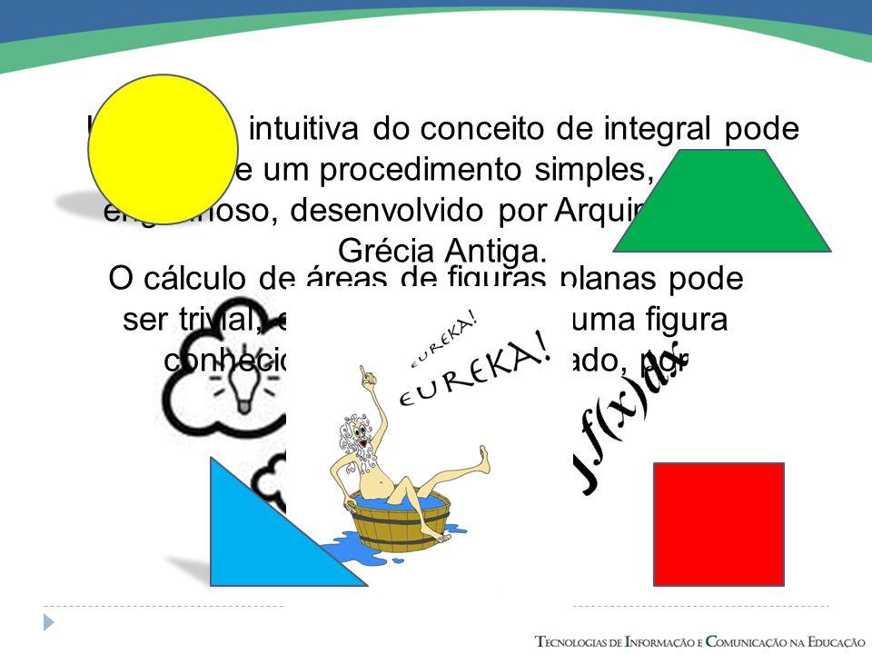 Uma ideia intuitiva do conceito de integral pode surgir de um procedimento simples, porém engenhoso, desenvolvido por Arquimedes na Grécia Antiga. O c