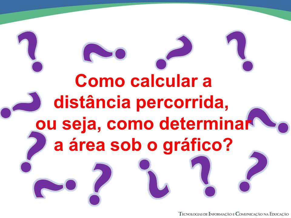 Como calcular a distância percorrida, ou seja, como determinar a área sob o gráfico?